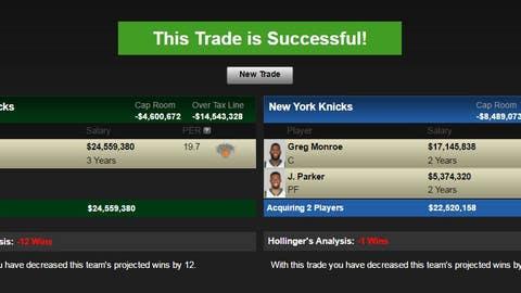 Milwaukee Bucks: Carmelo Anthony for Jabari Parker and Greg Monroe