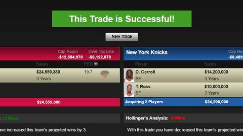 Toronto Raptors: Carmelo Anthony for DeMarre Carroll, Terrence Ross, the Clippers' 2017 first-round pick and Toronto's 2017 first-round pick