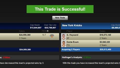 Utah Jazz: Carmelo Anthony for Gordon Hayward and Dante Exum