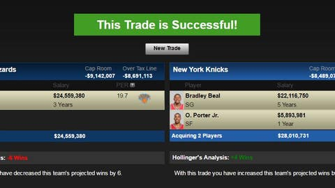 Washington Wizards: Carmelo Anthony for Bradley Beal and Otto Porter