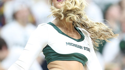Michigan State cheerleader