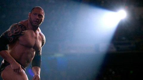 Batista is a surprise entrant in the Royal Rumble