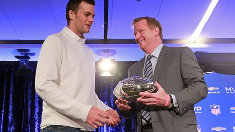 Goodell on if he'd feel 'uncomfortable' handing a trophy to Tom Brady
