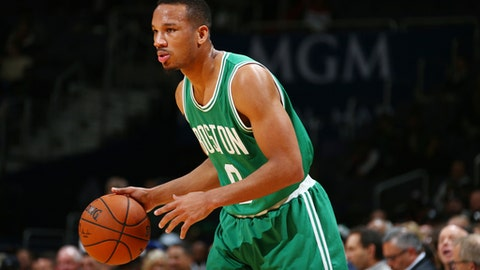 WASHINGTON, DC -  NOVEMBER 9:  Avery Bradley #0 of the Boston Celtics handles the ball against the Washington Wizards during the game on November 9, 2016 at Verizon Center in Washington, DC. NOTE TO USER: User expressly acknowledges and agrees that, by downloading and or using this Photograph, user is consenting to the terms and conditions of the Getty Images License Agreement. Mandatory Copyright Notice: Copyright 2016 NBAE (Photo by Ned Dishman/NBAE via Getty Images)