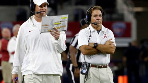 There is some degree of chaos in the Alabama coaches' offices