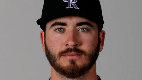 FILE - This is a 2016 file photo showing Chad Bettis of the Colorado Rockies baseball team. Bettis vowed to be ready for spring training even after being diagnosed with testicular cancer in November and undergoing surgery and he will most certainly be ready to pitch next month. (AP Photo/Charlie Riedel, File)