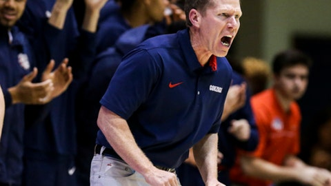 Top-ranked Gonzaga is inching closer to a No. 1 seed in the NCAA tournament