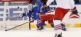 Jones scores twice as Blue Jackets hold off Rangers, 6-4