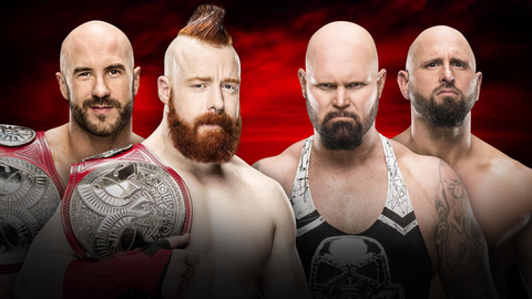 Kickoff show: Cesaro and Sheamus vs. Gallows and Anderson for the Raw Tag Team Championship