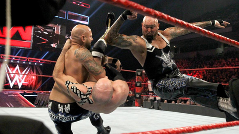 Cesaro and Sheamus vs. Gallows and Anderson for the Raw Tag Team Championship