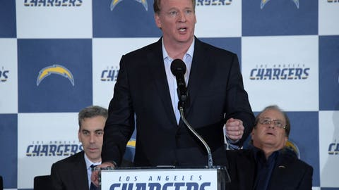 Goodell on if he's happy with the Chargers' move to Los Angeles