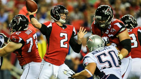 Falcons (+3) over Patriots (OVER/UNDER: 58.5)