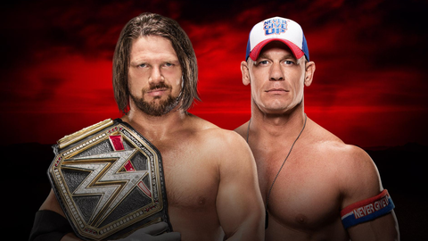 AJ Styles vs. John Cena for the WWE World Championship