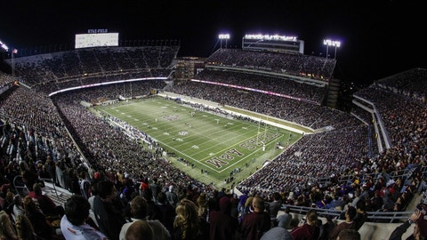 Nov 27, 2014; College Station, TX, USA; General view of Kyle Field during the game  between the Texas A&M Aggies and the LSU Tigers. Mandatory Credit: Troy Taormina-USA TODAY Sports