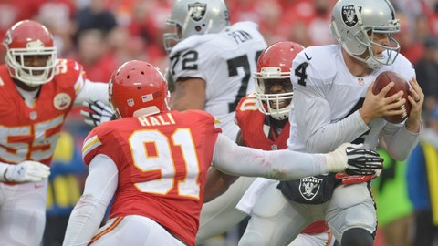 December 10: Oakland Raiders at Kansas City Chiefs, 1 p.m. ET