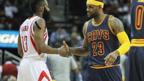 Cleveland Cavaliers vs. Houston Rockets: +1820 (91/5)