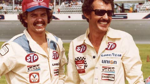 Kyle and Richard Petty