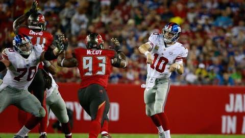 October 1: New York Giants at Tampa Bay Buccaneers , 4:05 p.m. ET
