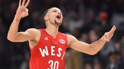 WEST -- Guard: Stephen Curry, Golden State Warriors