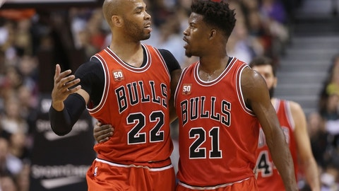 Chicago Bulls send Taj Gibson, Doug McDermott and a 2018 second-round pick to the Oklahoma City Thunder for Joffrey Lauvergne, Anthony Morrow and Cameron Payne