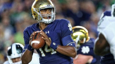 Notre Dame QB DeShone Kizer: Joe Flacco, Ravens