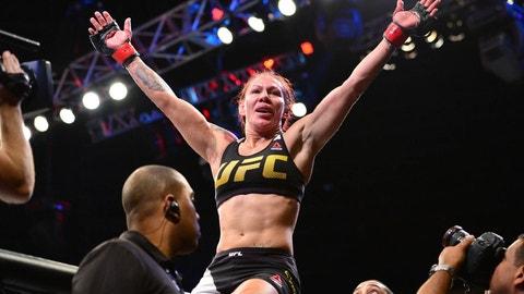 """Cris """"Cyborg"""" (16-1-0, 1NC) vs. Megan Anderson (8-2)"""