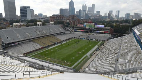 Oct 15, 2016; Atlanta, GA, USA; A general view of Bobby Dodd Stadium prior to the game against the Georgia Tech Yellow Jackets and the Georgia Southern Eagles. Mandatory Credit: Adam Hagy-USA TODAY Sports