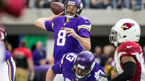 Sam Bradford dodges a question about whether he'll be the starter next season