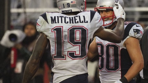 Malcolm Mitchell, WR, Patriots (knee): Questionable