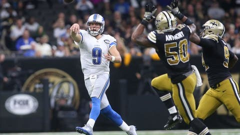 October 15: Detroit Lions at New Orleans Saints, 1 p.m. ET