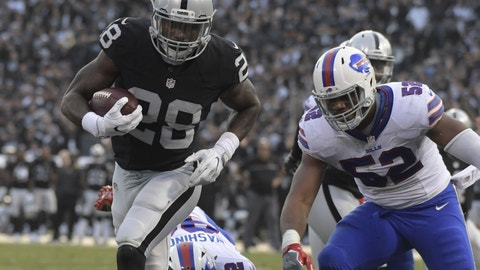October 29: Oakland Raiders at Buffalo Bills, 1 p.m. ET