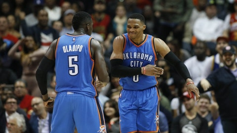 Westbrook's individual accomplishments help the Thunder win
