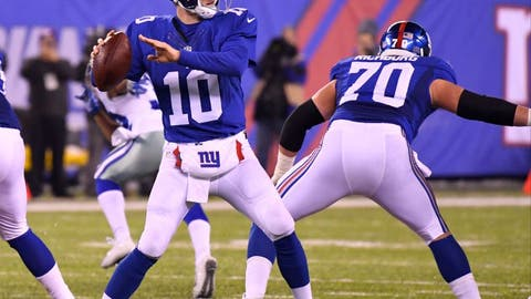 NEW YORK GIANTS (11-5), last Lombardi: Super Bowl 46, 21-17 over New England, Feb. 5, 2012.