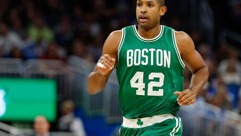 Dec 7, 2016; Orlando, FL, USA; Boston Celtics center Al Horford (42) against the Orlando Magic during the first quarter at Amway Center. Mandatory Credit: Kim Klement-USA TODAY Sports