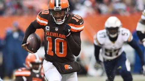 Dec 24, 2016; Cleveland, OH, USA; Cleveland Browns quarterback Robert Griffin III (10) runs the ball during the first half against the San Diego Chargers at FirstEnergy Stadium. Mandatory Credit: Ken Blaze-USA TODAY Sports