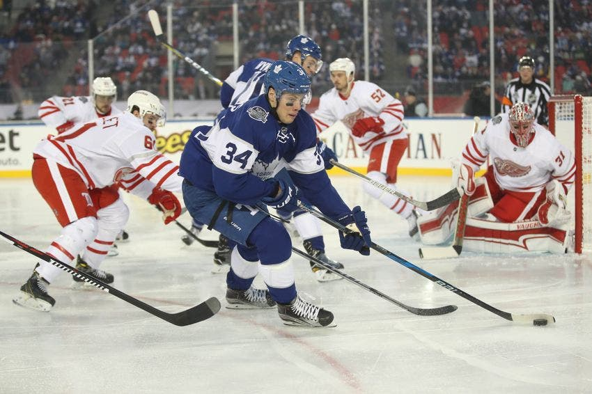 cheap for discount 55ae0 a38ef Auston Matthews fires a rocket shot for his 19th goal of the ...