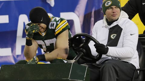 Jordy Nelson is injured and unlikely to play