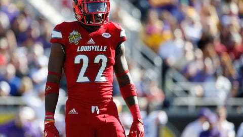 Dec 31, 2016; Orlando , FL, USA; Louisville Cardinals safety Chucky Williams (22) against the LSU Tigers during the first quarter at Camping World Stadium. Mandatory Credit: Kim Klement-USA TODAY Sports