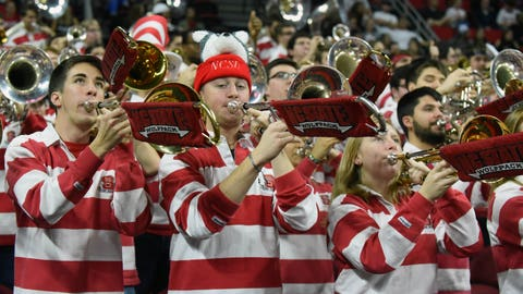 Jan 21, 2017; Raleigh, NC, USA; The North Carolina State Wolfpack band performs prior to a game against the Wake Forest Demon Deacons at PNC Arena. Mandatory Credit: Rob Kinnan-USA TODAY Sports