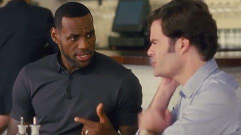LeBron James in 'Train Wreck'