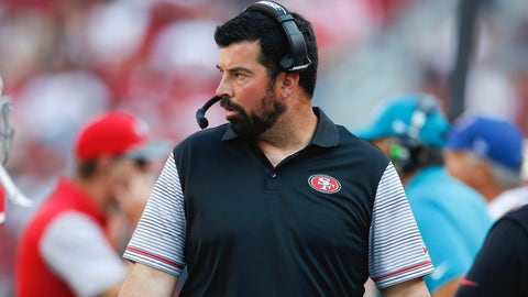 SANTA CLARA, CA - AUGUST 14: Quarterbacks Coach Ryan Day of the San Francisco 49ers stands on the sideline during the game against the Houston Texans at Levi Stadium on August 14, 2016 in Santa Clara, California. The Texans defeated the 49ers 24-13. (Photo by Michael Zagaris/San Francisco 49ers/Getty Images)