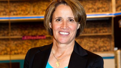"""NEW YORK, NY - SEPTEMBER 28:  Reporter, sports analyst and commentator, Mary Carillo attends """"Kitten Bowl IV"""" Taping at AMV All Mobile Video on September 28, 2016 in New York City.  (Photo by Steve Mack/Getty Images)"""