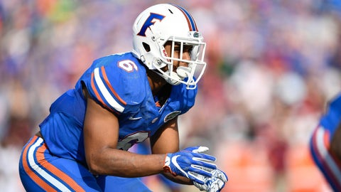GAINESVILLE, FL - NOVEMBER 12:  Florida defensive back Quincy Wilson (6) during an NCAA football game between the South Carolina Gamecocks and the Florida Gators on November 12, 2016, at Ben Hill Griffin Stadium in Gainesville, FL. Florida won 20-7. (Photo by Roy K. Miller/Icon Sportswire via Getty Images)