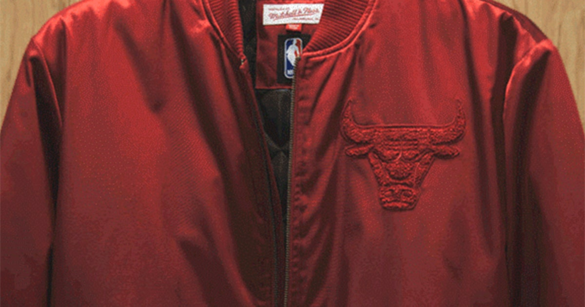 These Limited Edition Satin Bombers From Mitchell   Ness Are Delightful  697ec2259066