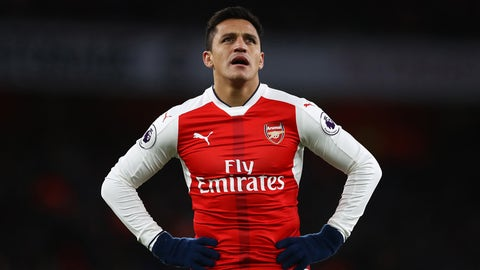 LONDON, ENGLAND - DECEMBER 26:  Alexis Sanchez of Arsenal reacts during the Premier League match between Arsenal and West Bromwich Albion at Emirates Stadium on December 26, 2016 in London, England.  (Photo by Julian Finney/Getty Images)