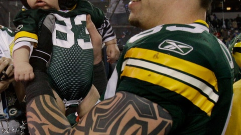 Tom Crabtree and son Bryce Thomas (Super Bowl XLV)