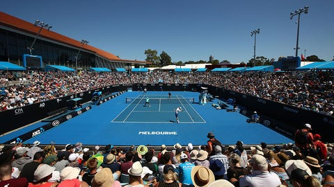 MELBOURNE, AUSTRALIA - JANUARY 19:  A general view of Show Court 2 during the first round match between John-Patrick Smith and Matt Reid of Australia and Chris Cuccione and Sam Groth of Australia on day four of the 2017 Australian Open at Melbourne Park on January 19, 2017 in Melbourne, Australia.  (Photo by Cameron Spencer/Getty Images)