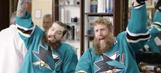 Brent Burns and Joe Thornton go wild for facial hair in hilarious Sharks ad