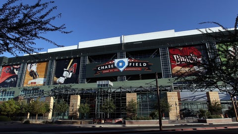 PHOENIX, AZ - JUNE 15:  General view of the exterior of Chase Field before the Major League Baseball game between the San Francisco Giants the Arizona Diamondbacks on June 15, 2011 in Phoenix, Arizona.  (Photo by Christian Petersen/Getty Images)