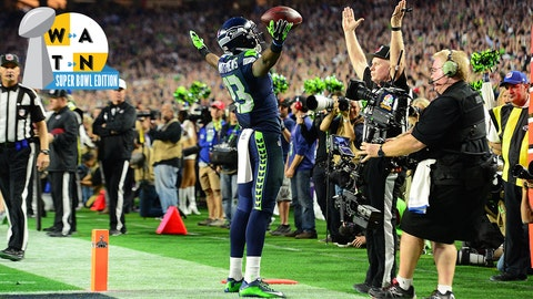 WR Chris Matthews (13)Matthews TD 14-14NFL: Super Bowl XLIX: New England Patriots vs Seattle Seahawksgame actionUniversity of Phoenix Stadium/Phoenix, AZ2/1/2015X159217 TK1Credit: John Biever